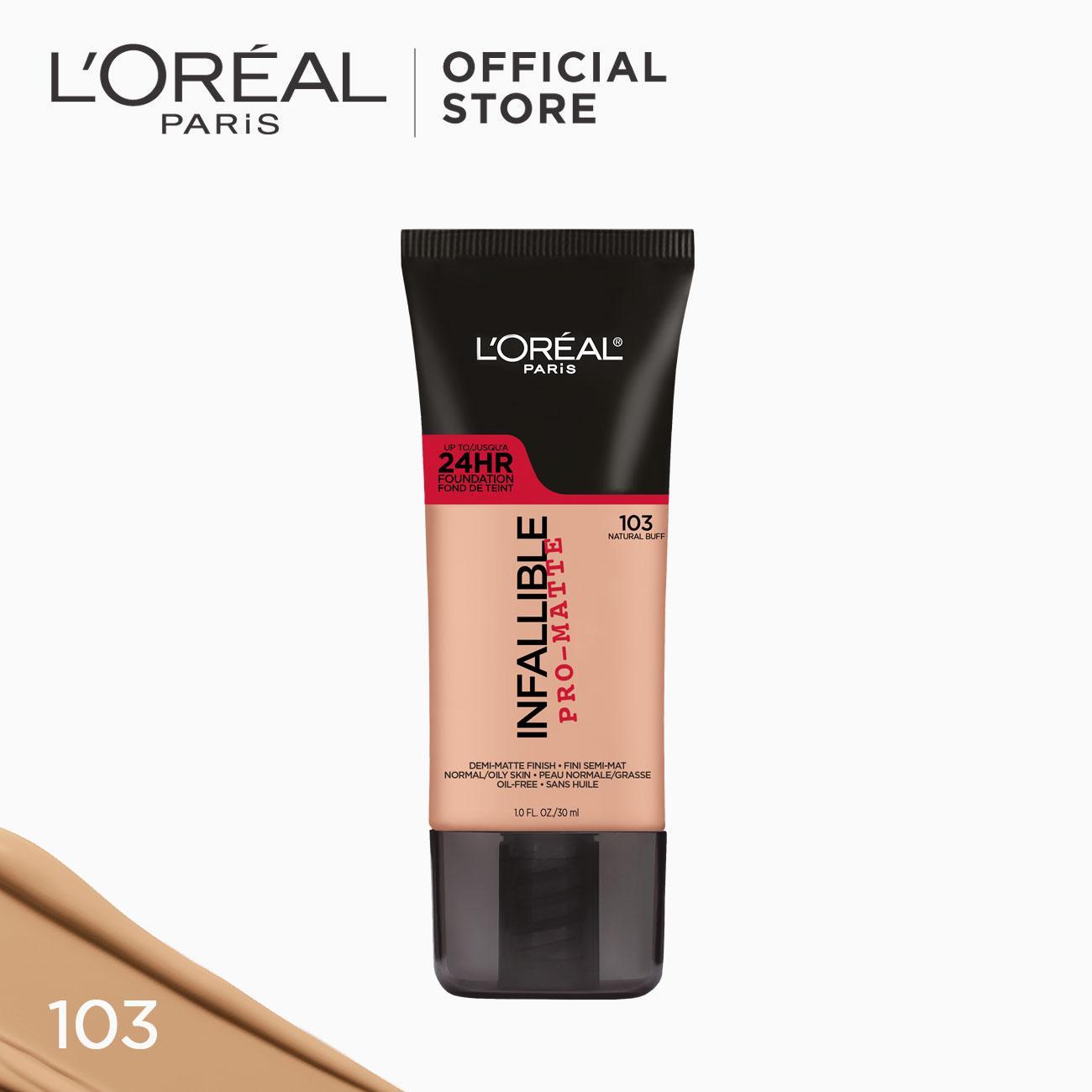 Infallible Pro-Matte Liquid Foundation - 103 Natural Buff [#NeverFail 24HR Longwear] by LOréal Paris Philippines