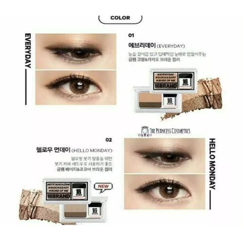 2018 Korean Sixteen Eye Magazine Two Shades Eyeshadow Palette by 16Brand Philippines