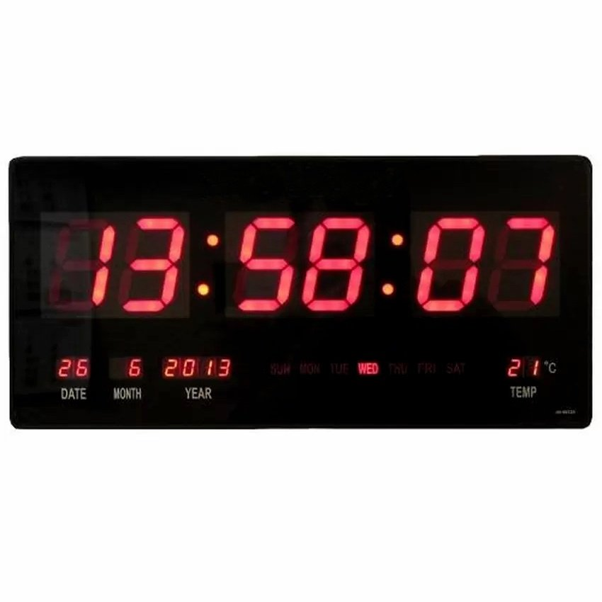 Specifications Of 18 Inches Digital Led Wall Clock Black