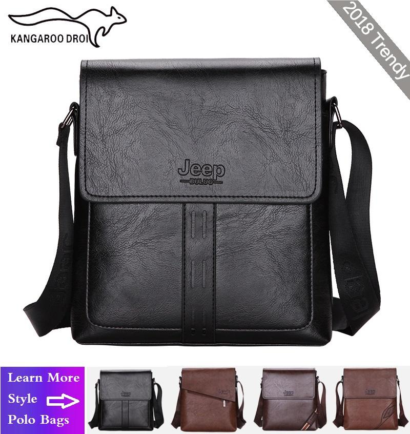 913068ec1537 2018 Trendy JEEP Business Casual Vintage Polo Bag Male Mens Leather  Messenger Bag Mens Bag Men's Bags Polo Sling Bag for Men Organizer