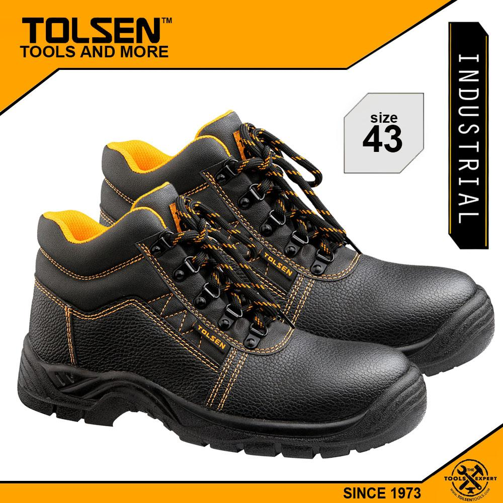 Tolsen Industrial Safety Shoes (Size 10) with Steel Midsole and Toe Cap  45355 Philippines