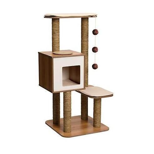 cat trees for sale. Vesper Cat Furniture V-High Base Walnut Trees For Sale