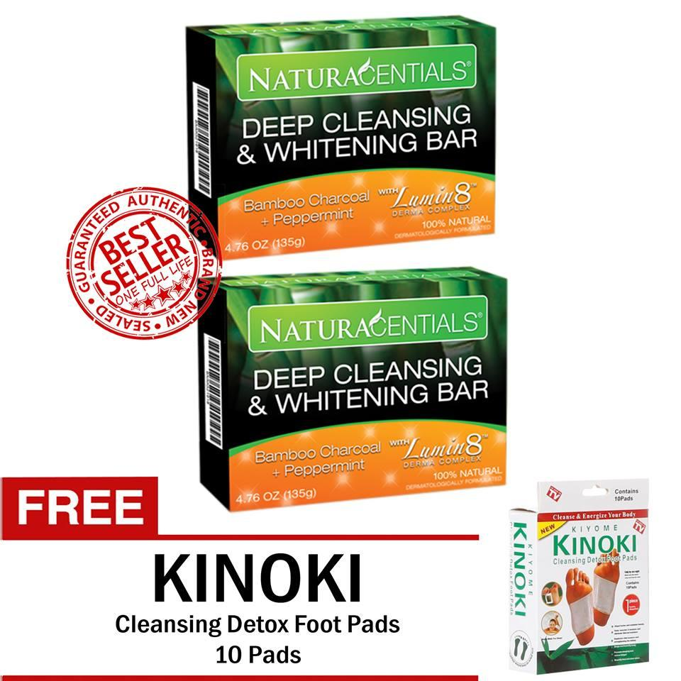 The Price Of Kinoki Detox Cleansing Foot Pad With Ginger Salt 10 Box Gold Aim Global Naturacentials Deep And Whitening Soap 2 Bars Free