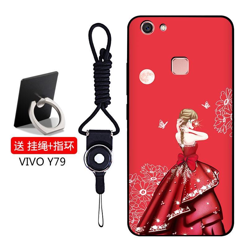 Cartoon Cute Mirror Case For Vivo Y35kt Crystal Lanyard Intl ... - MYR 23