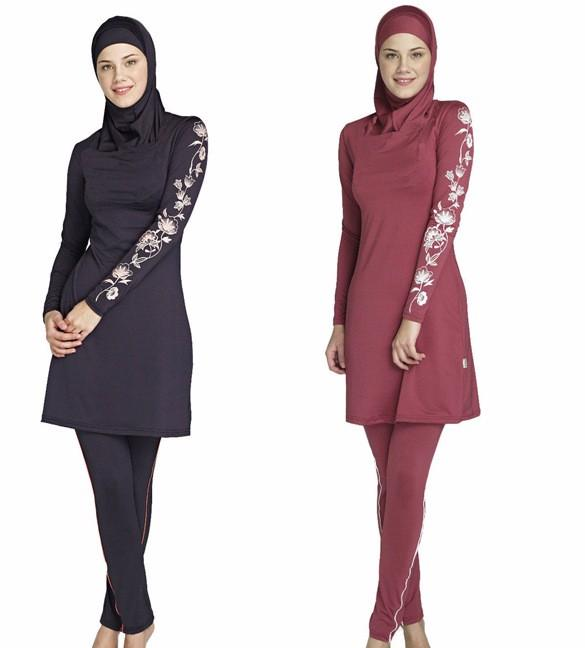 2018 New muslim swimwear islamic swimsuit modest swimwear swimsuit for women - intl