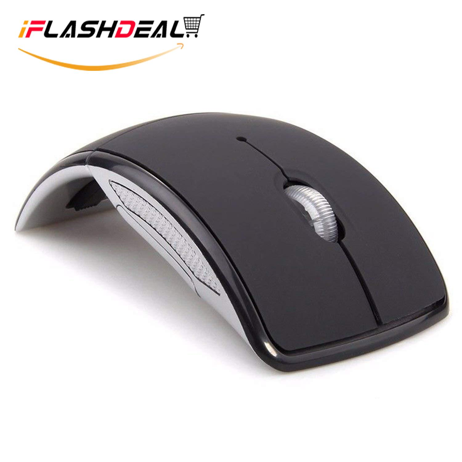 iFlashDeal 2.4GHz Wireless Folding Mouse Foldable Mice Arc Optical Mouse with USB Receiver for PC Laptop MacBook Malaysia