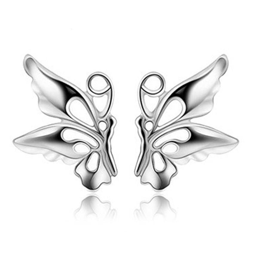Candy Online Korean 925 Silver Butterfly Earrings ED16