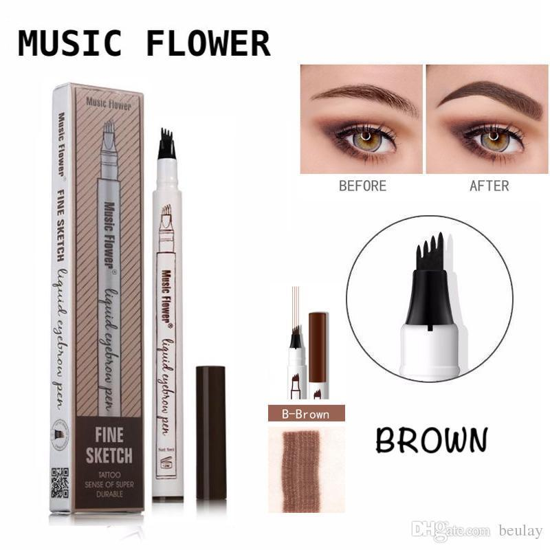 Music Flower Fine Microblading Eyebrow Pencil - (BROWN) Philippines