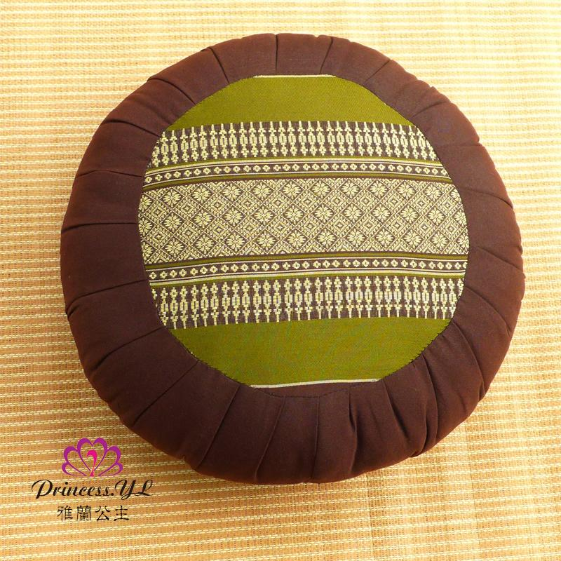 Thailand Kapok Round throw pillow Tatami throw pillow da zuo dian Futon Coaster Thick Fabric Circle Prayer Mat Buddha Pillow