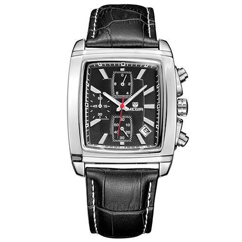 4241dfd84 MEGIR 2028 Original Quartz Watch Men Top Brand Luxury Army Military Watches  Leather Dress Wristwatch Clock
