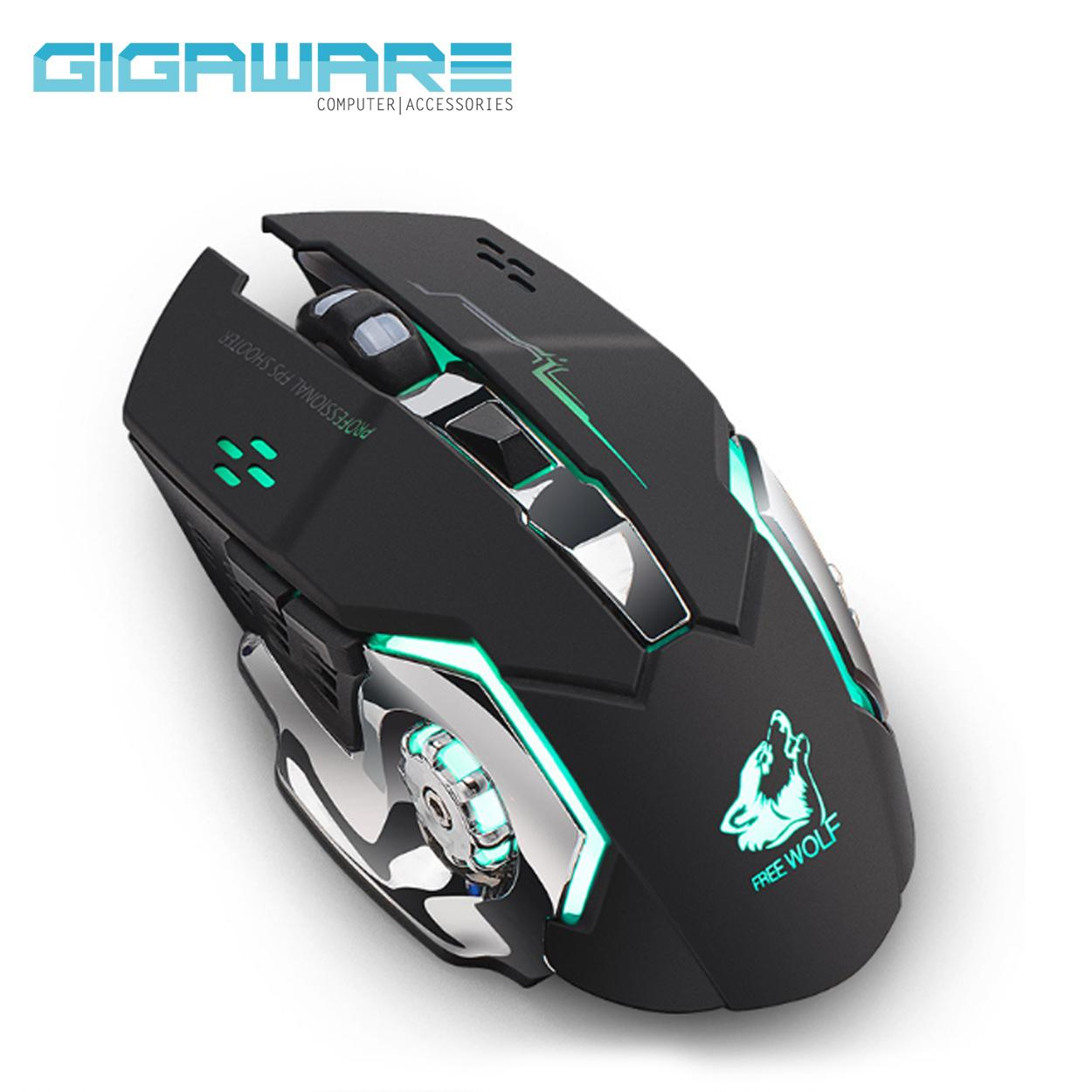 Computer Mouse For Sale Pc Mice Prices Brands Specs In Motion Sensor And Bluetooth Circuit Board Spare Parts Accessories Gigaware Wolf X8 6 Buttons Rgb Back Light Wireless Charging Gaming Black