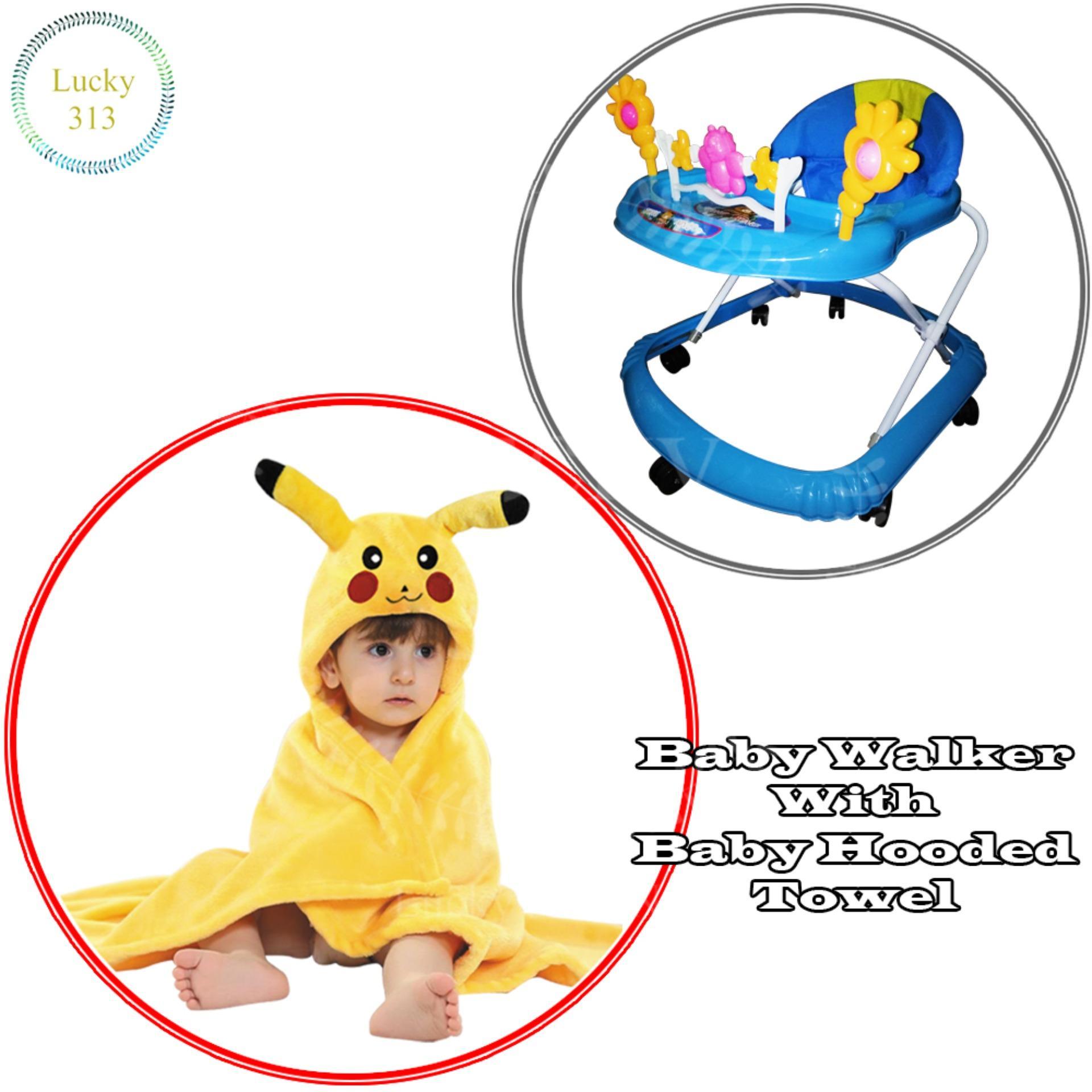 Baby Walker Toddler Trolley Sit To Stand For Kids Push Musical Alat Bantu Bayi Belajar Jalan Cute Soft Cushion With Car Steering