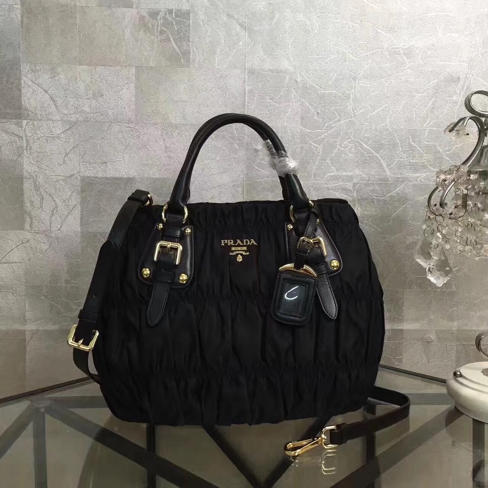 4967a03389cf ... promo code for shopsmarter prada black nappa gaufre nylon tote bn1789  57bde 7926e
