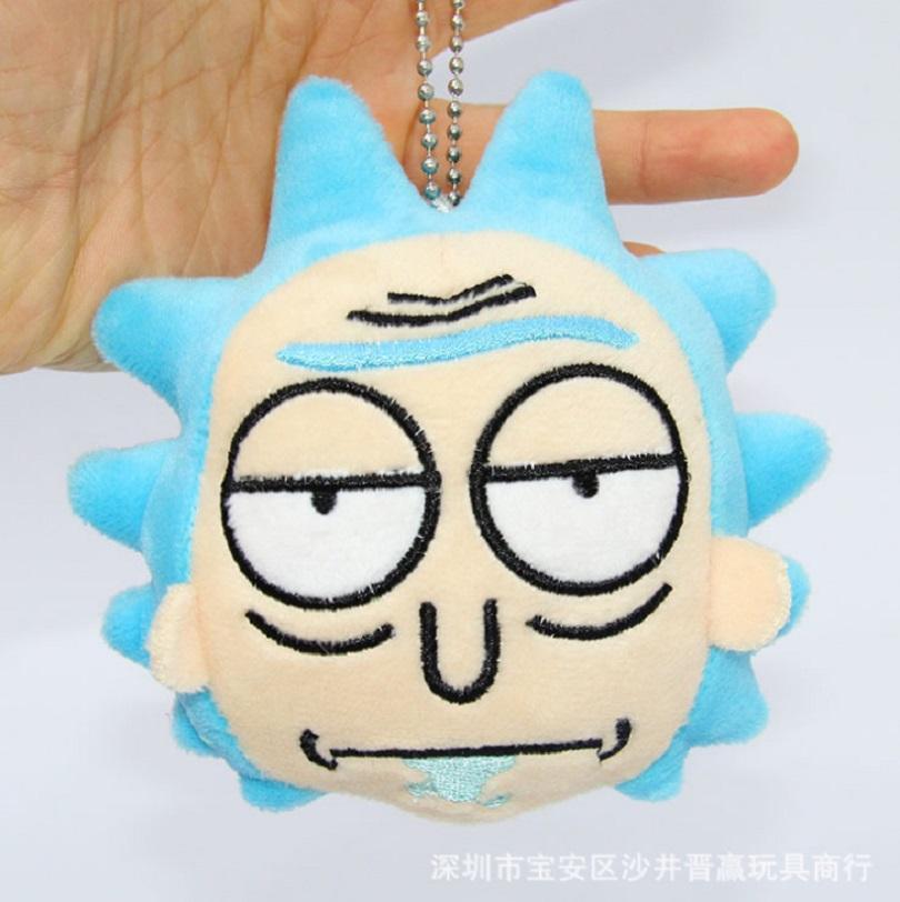 Komik Rick dan Morty Plush mainan Keychain Kawaii Rick dan Morty Kakek Boneka mainan Tokoh Karakter Liontin Anak-anak oyuncak Mango