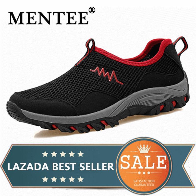 Mentee Pria dan Wanita Luar Ruangan Sneaker Hiking Sepatu AIR Hulu Bernapas  Mesh 78319713b3