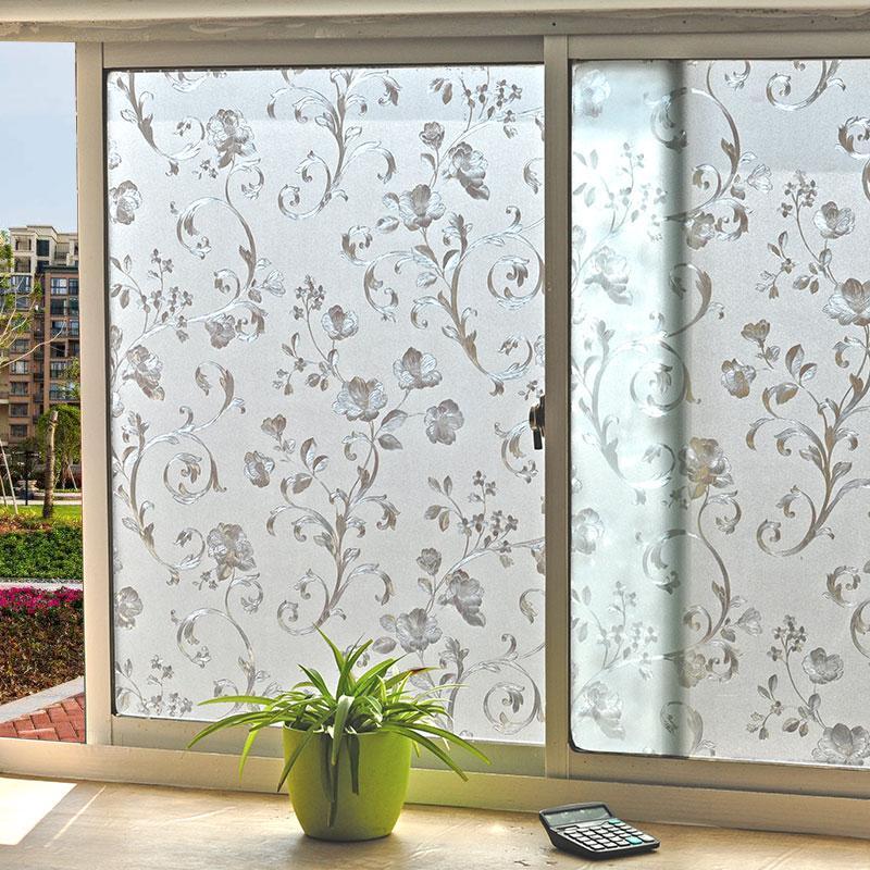 Glue-free Static Electricity Glass Film Dull Polish Bathroom Window Stickers Translucent Non-transparent Window Sticker Glass Paper