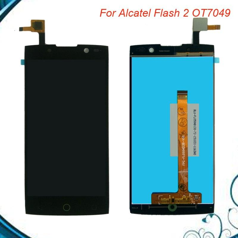 Ⓐ  ✔ New LCD For Alcatel Flash 2 OT7049 LCD Display + TouchScreen (Black)+Repair Tools