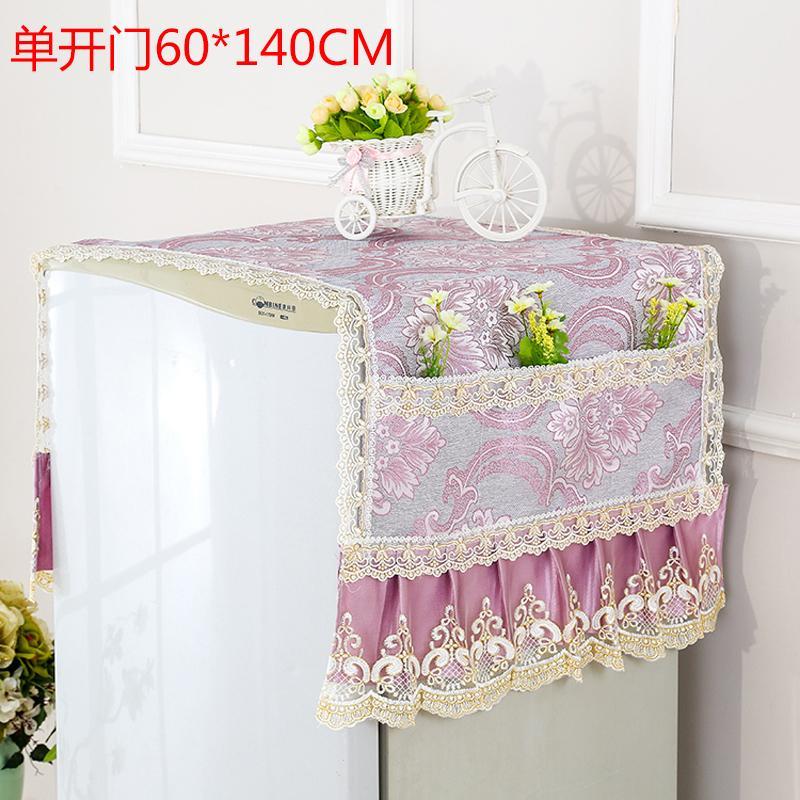 Phong Cách Châu Âu Vải Nghệ Thuật Cửa Đơn Cửa Hai Cánh Tủ Lạnh Bọc Chống Bụi Điều Hòa Khăn Phủ Cửa Hai Cánh Tủ Lạnh Bao Gồm Khăn Đa Năng Vải Đậy