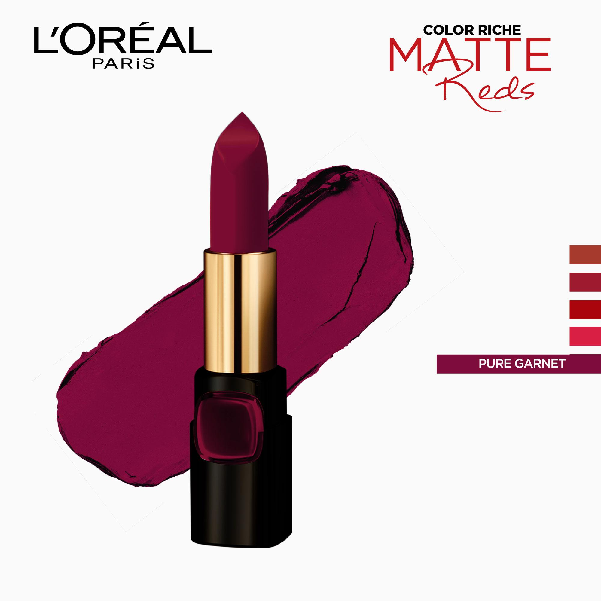 Matte Reds Richest Color Lipstick - Pure Garnet CSR4 [Sonam Kapoors] by LOréal Paris Color Riche Philippines