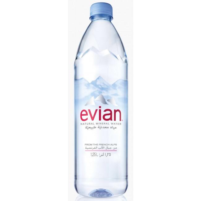 Evian Water 1.25l Set Of 3 By 1ss.