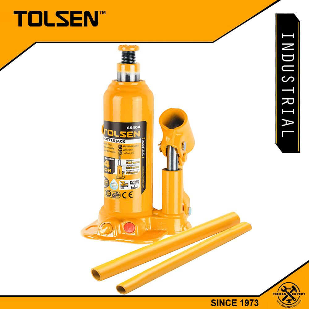 Tolsen Industrial Hydraulic Bottle Jack (6Tons - 70mm) Leak Proof 65406 Philippines