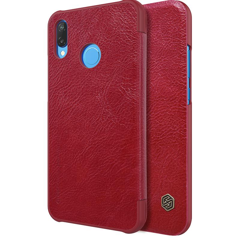 Nillkin Ultra thin Leather flip cover case for Huawei P20 Lite and Nova 3e phone bag shell cases with card pocket