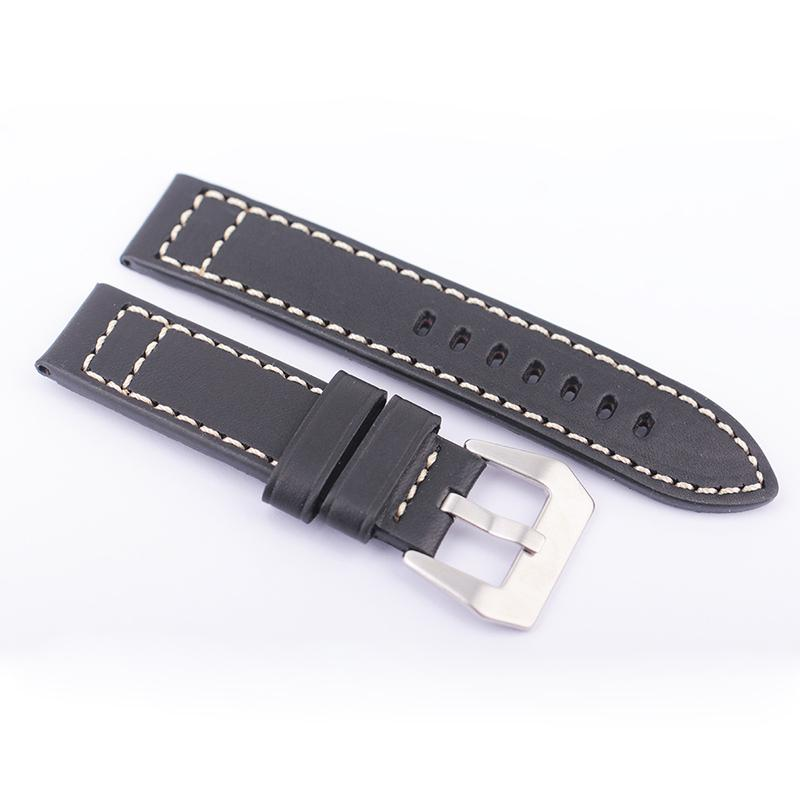 Seiko Watch Strap Diving Leather Italy Import Mm Water Ghost Waterproof SKX007K2/009K1 Pin Buckle Watch Band