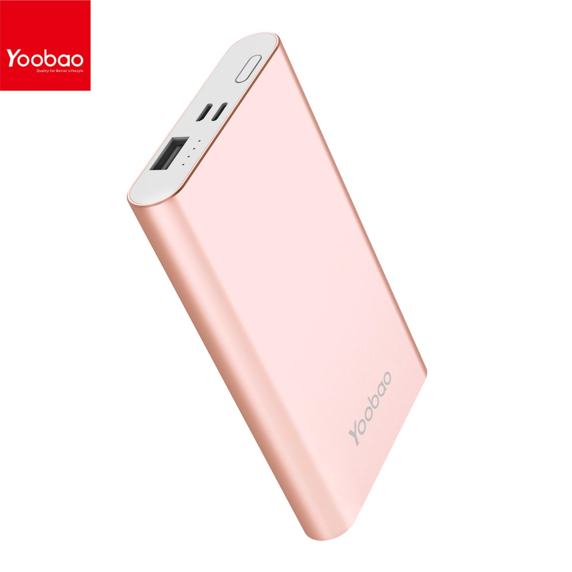 Yoobao PL10 mAh Polymer Power Bank Rose Gold