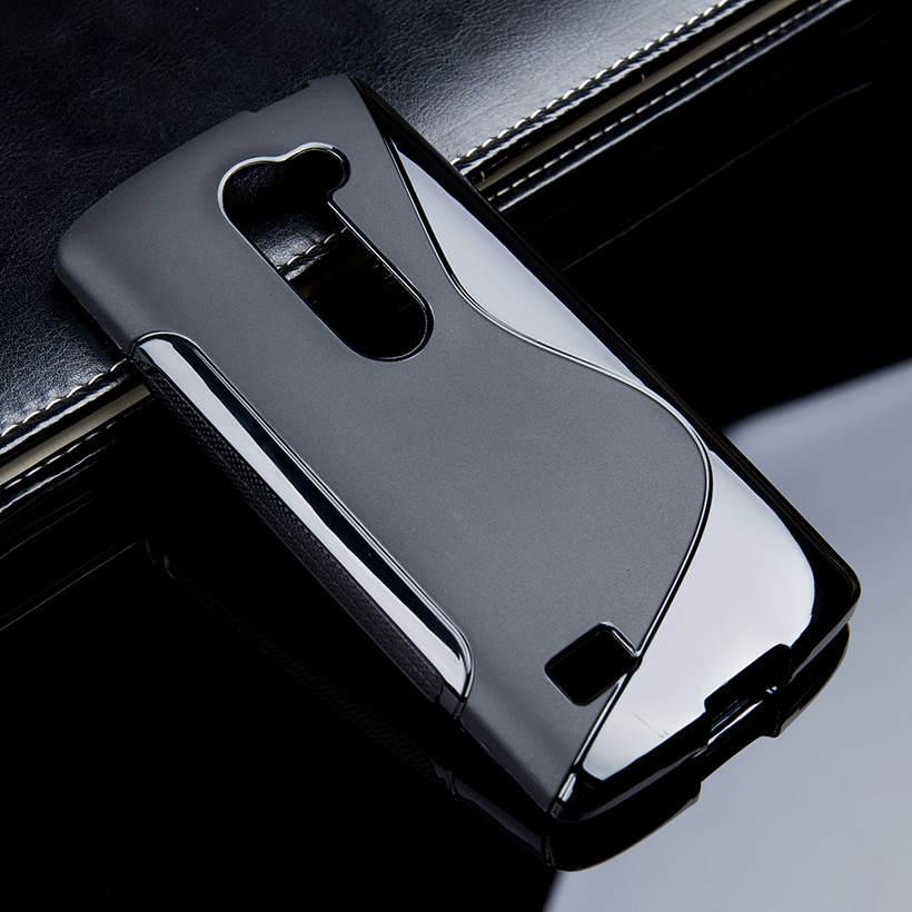 1 Pc/lot S Tali Lembut TPU Silikon Telepon Case untuk LG Leon Tribute 2 4G LTE C40 H340N H320 c50 H324 H340 4.5 Inch Sarung Aksesoris Telepon Hitam-Internasional
