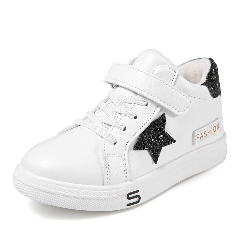 Anak-Anak Sepatu Putih Kecil 2018 Musim Gugur Model Baru Anak Prempuan Sepatu Sepatu Katun Sepatu Sneaker Besar Perawan Tambah Beludru Netral Sepatu Olahraga Air Pasang By Koleksi Taobao.