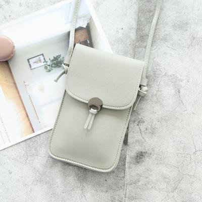 Sihir model baru rantai perempuan Retro transparan layar sentuh tas ponsel tas bahu dengan satu tali Selempang tas pelajar 6 inci Layar Besar HP