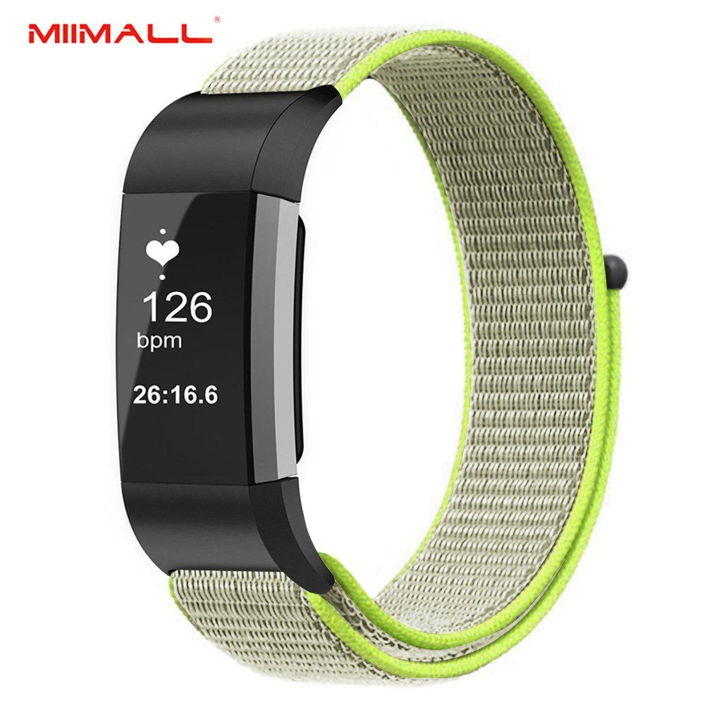 Miimall Fitbit Charge 2 Band, Nylon Sport Loop Breathable Nylon Replacement Bracelet Wrist Band Strap