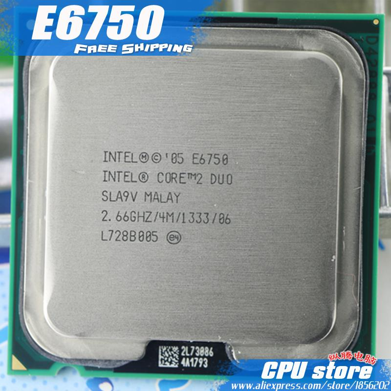 Intel Core 2 Duo E6750 Prosesor CPU (2.66 GHz/4 M/1333 GHz) Socket 775-Intl