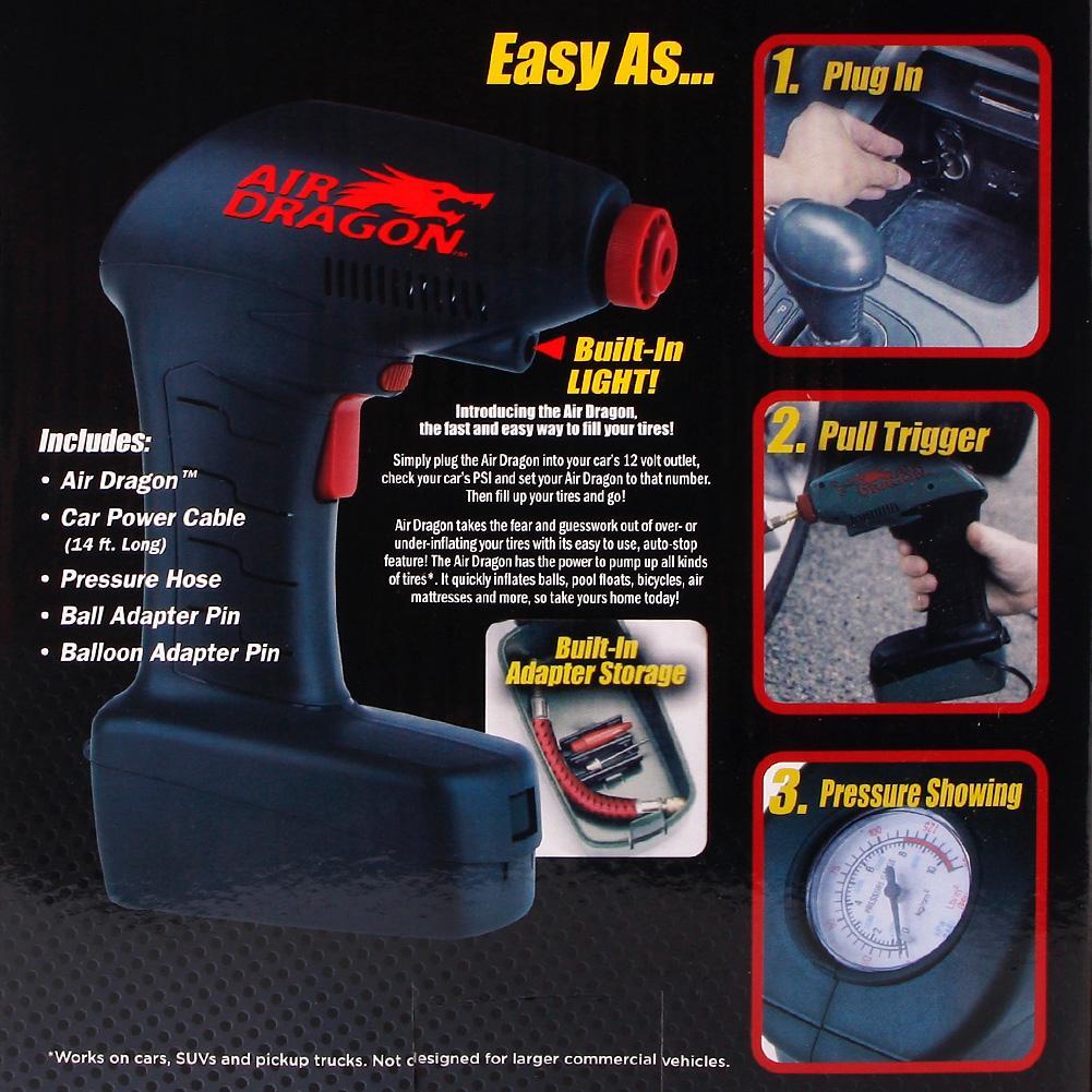 Air Dragon Tire Inflator >> Candy Onlie As Seen On Tv Air Dragon Handheld Portable Air Compressor Auto Tire Inflator Balls Mattress Toys Pump Emergency Tool Green