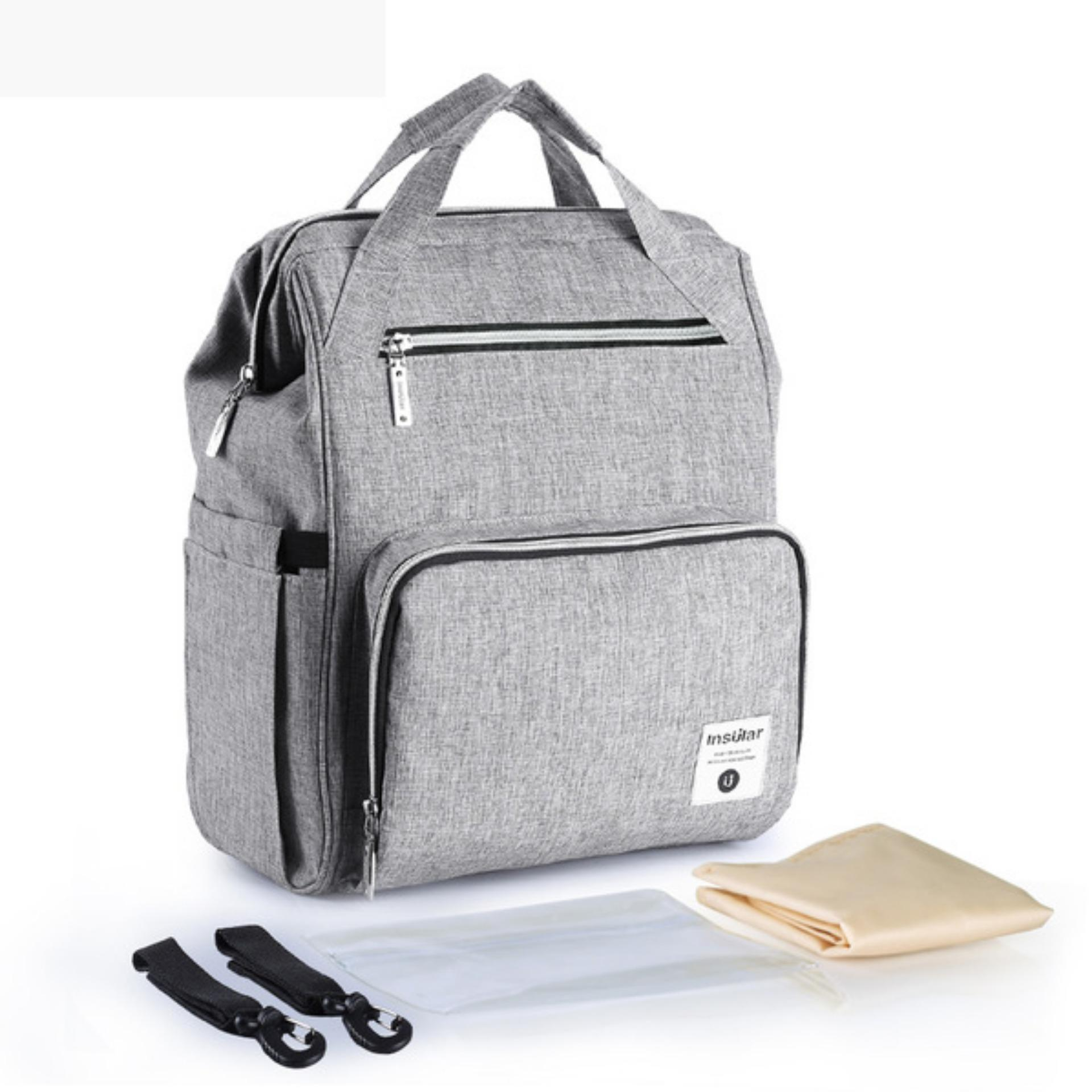 Buy Insular 2018 Fashion Diaper Tote Bag Diaper Backpack Grey Online China