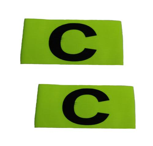 Tcs Pca-Nr Captain Arm Band Adult Set Of 2 (neon Green) By Star Sports.