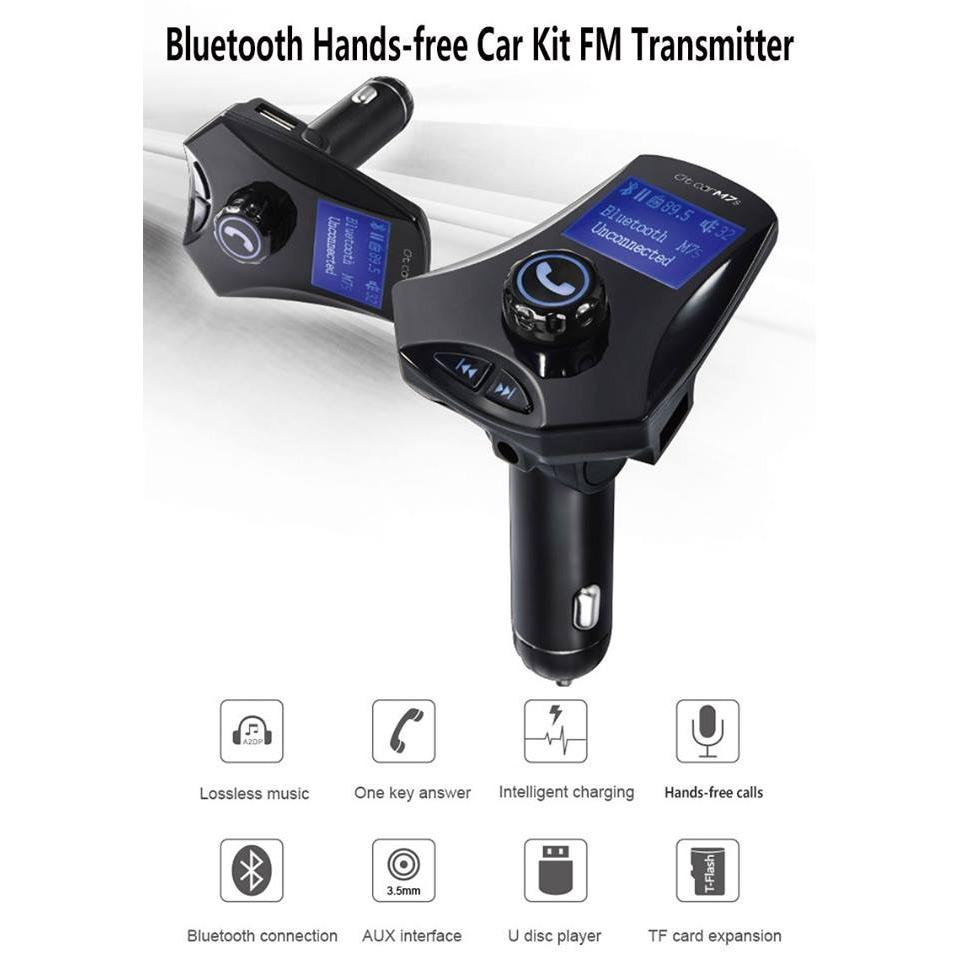 ... M7 Bluetooth FM transmitter hands free Car Kit Mp3 fm modulator 2 1A