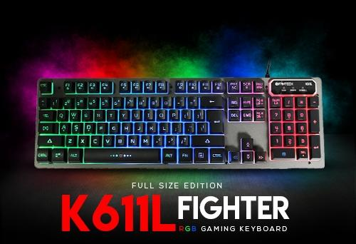 2d50df7807c Fantech K611L Keyboard Full Size Backlit Fighter Gaming Keyboard ...