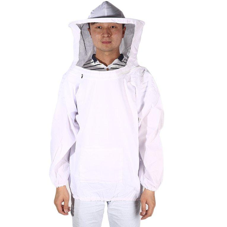 Caihui New Large Beekeeping Bee Keeping Jacket Clothes Pull Over Smock with Veil