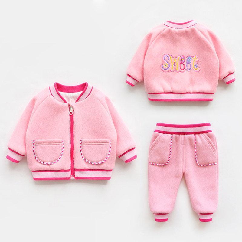 58 Freeshop 3 In1 Jumper Baby Set Jumper Jaket Celana Panjang Pakaian Bayi Perempuan Ladybug F1041k