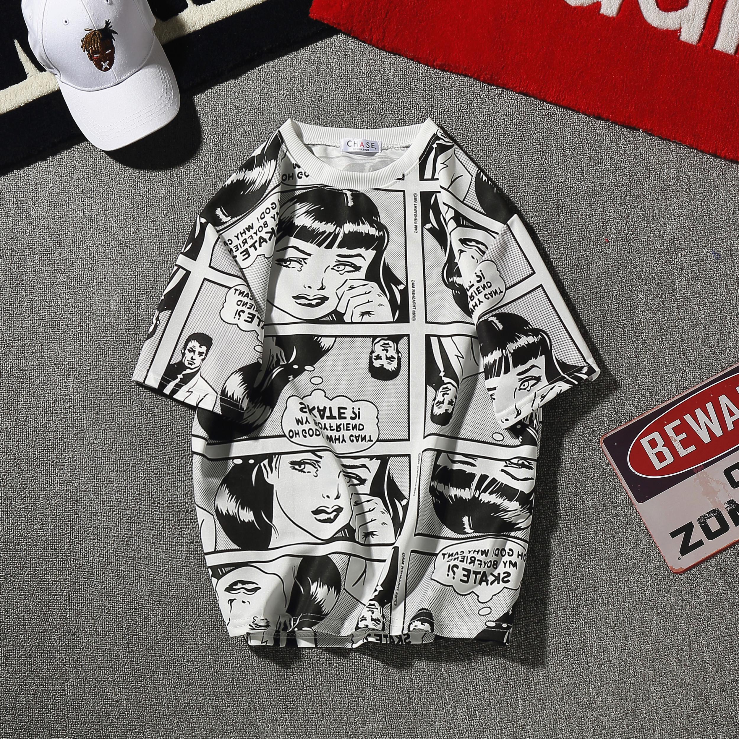 Celana Panjang Pendek Olahraga Pria Kemeja Lengan Benedict Navy Denim Ss Semata Kaki Dan Wanita Longgar Tren Komik