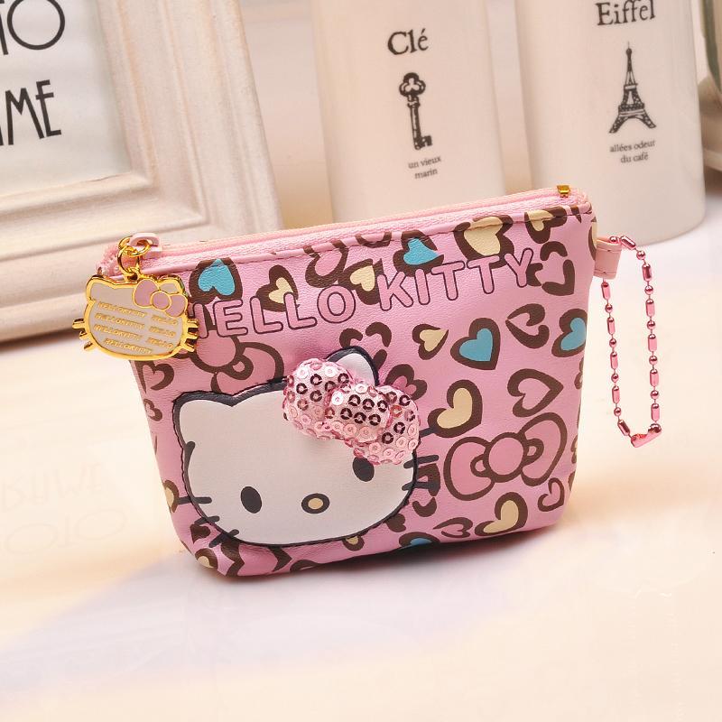 Hello Kitty กระเป๋าใส่เหรียญหญิงญี่ปุ่นน่ารักการ์ตูนกระเป๋าใส่เหรียญซิปกระเป๋าใส่เศษเงินสาธารณรัฐเกาหลีสไตล์เกาหลี By Taobao Collection.
