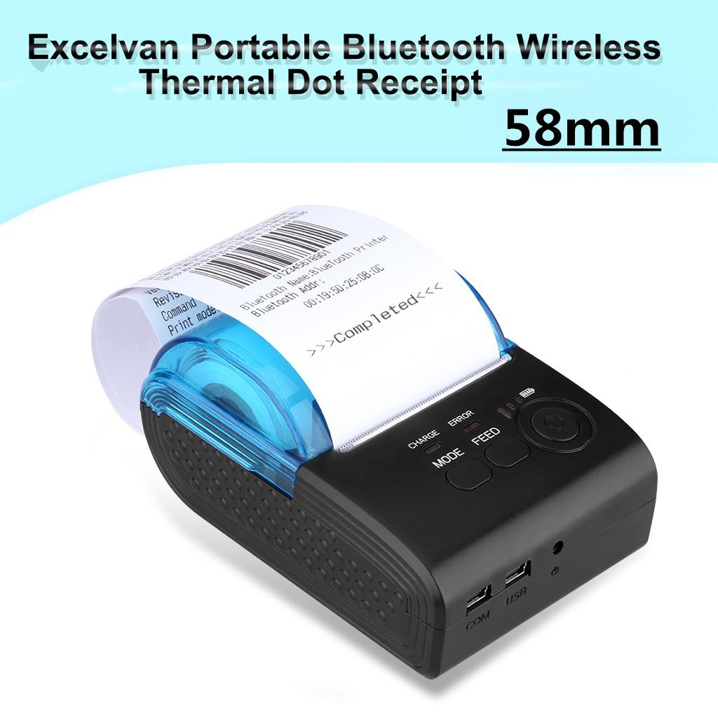 Excelvan Portable Bluetooth Wireless 58mm Thermal Dot Receipt