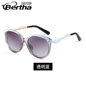 Daftar Harga Bertha model baru 2018 polarisasi kacamata hitam wanita wajah  bulat pasang modis bingkai bundar Model artis kacamata hitam mengemudi  kacamata ... dae5966b01