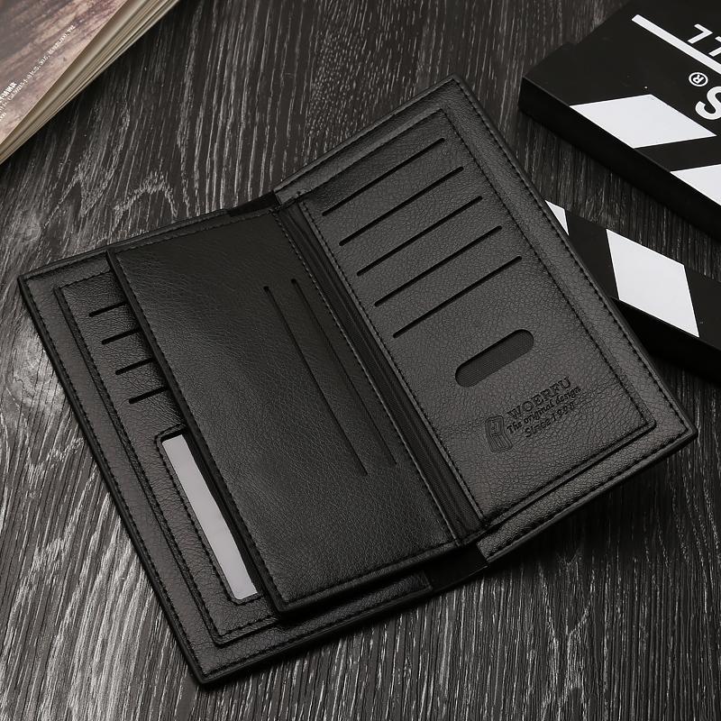 Model baru Kulit lembut dompet pria model panjang Tipis anak muda modis dompet  tas tangan casual de85946605