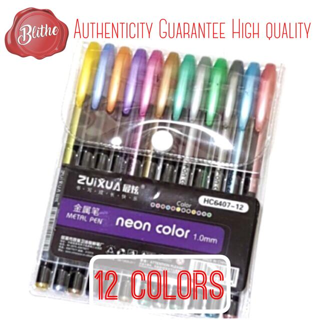Metallic Pastel Glitter Neon Gel Pen 12 24 36 48 Colors For Coloring Books Drawing Craft