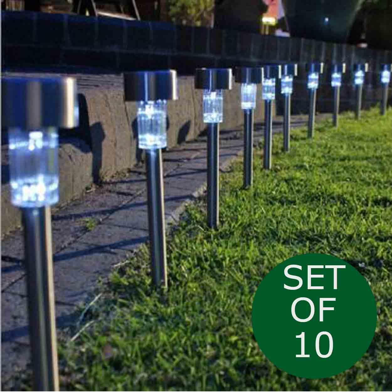 Outdoor Lighting For Sale Lights Prices Brands Review Garden Using Solar Cells 10 Pack Pathway Landscape