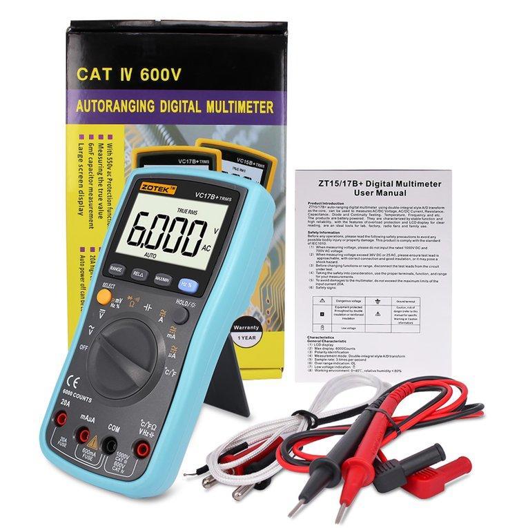 PHP 1.239. OSMAN VC17B Digital Multimeter 6000 Counts AC DC Ammeter Voltmeter Portable MeterPHP1239