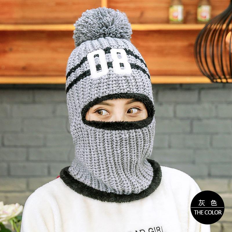 Korea Fashion Style ditambah beludru perempuan tebal topi wol topi (Abu-abu)