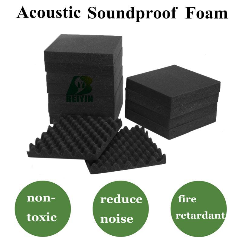 24PCS BEIYIN Egg Acoustic Foam Recording Studio KTV Music Room Acoustic  Sound Proof Panels Decorative Material Sound Insulation Sponge Wall Panel